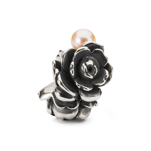 Trollbeads Compassion Rose, Mother's Day bead 2021, Pearl Top