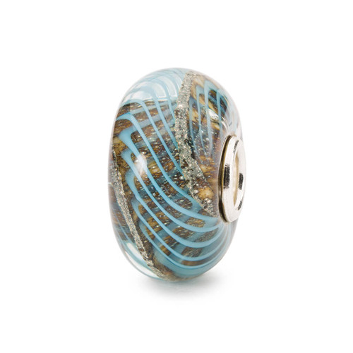 Blue Grooves Bead