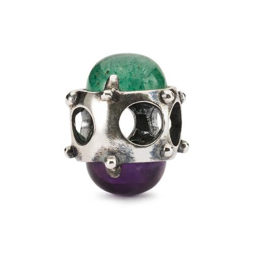 Trollbeads Purple & Green Halo Bead