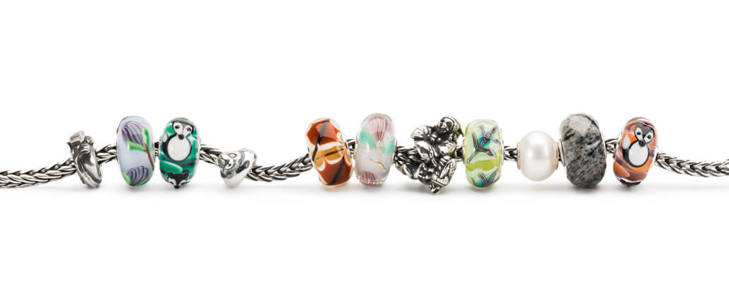 Trollbeads Glass Beads On Bracelet