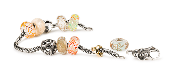 Trollbeads Bracelet with glass and silver beads