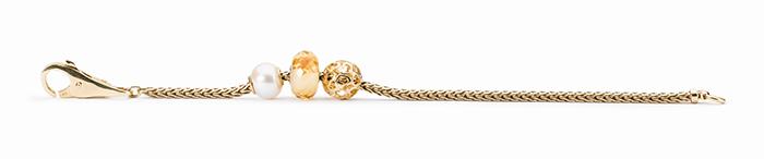 Trollbeads Gold Bracelet With Pearl