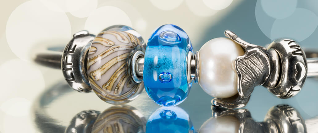 Trollbeads Silver Bangle with Beads