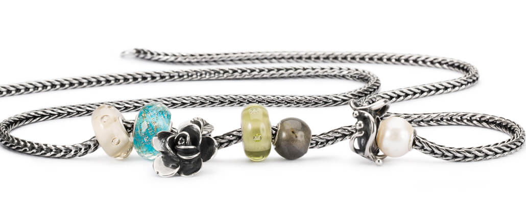 Trollbeads Silver Necklace with Beads