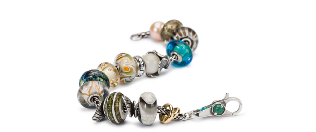 Trollbeads Glass Beads on Bracelet