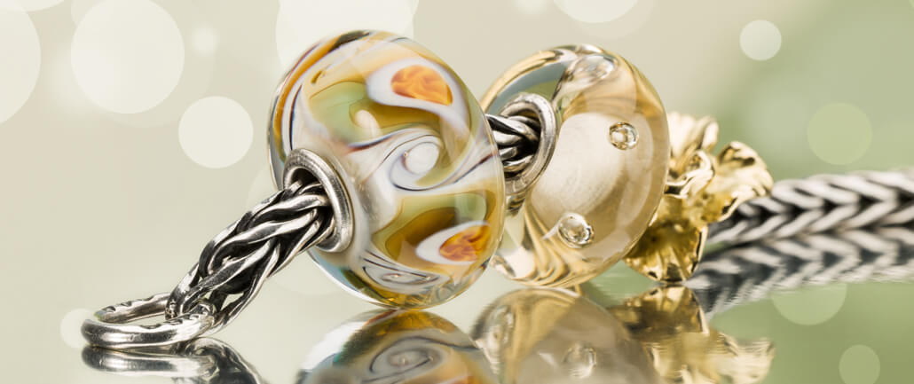 Trollbeads Bracelet with Glass and Gold