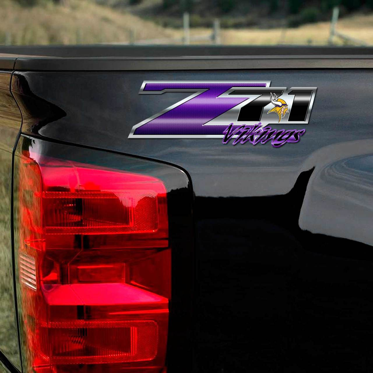 Vikings Z71 Truck Decals 4x4 Chevy Silverado Nfl Sticker