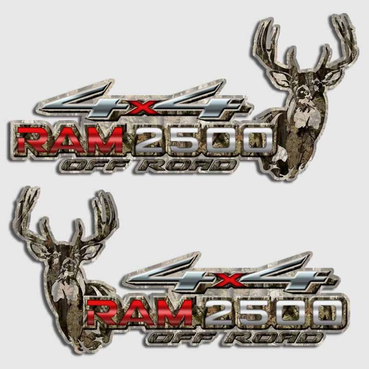 Dodge Ram 2500 Camouflage Hunting 4x4 Truck Decals