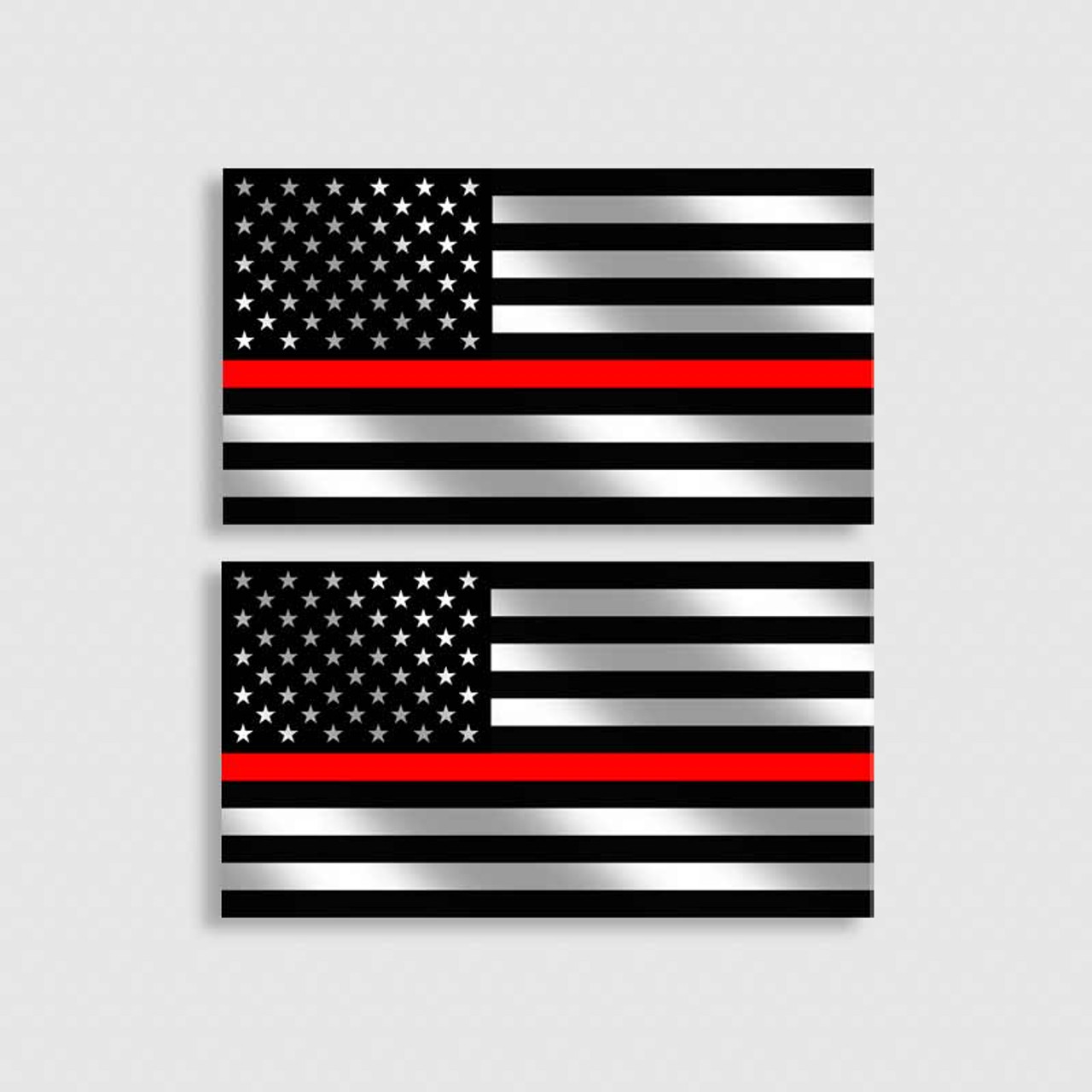 Red Line American Flag >> Firefighter Thin Red Line American Flag Decal Set