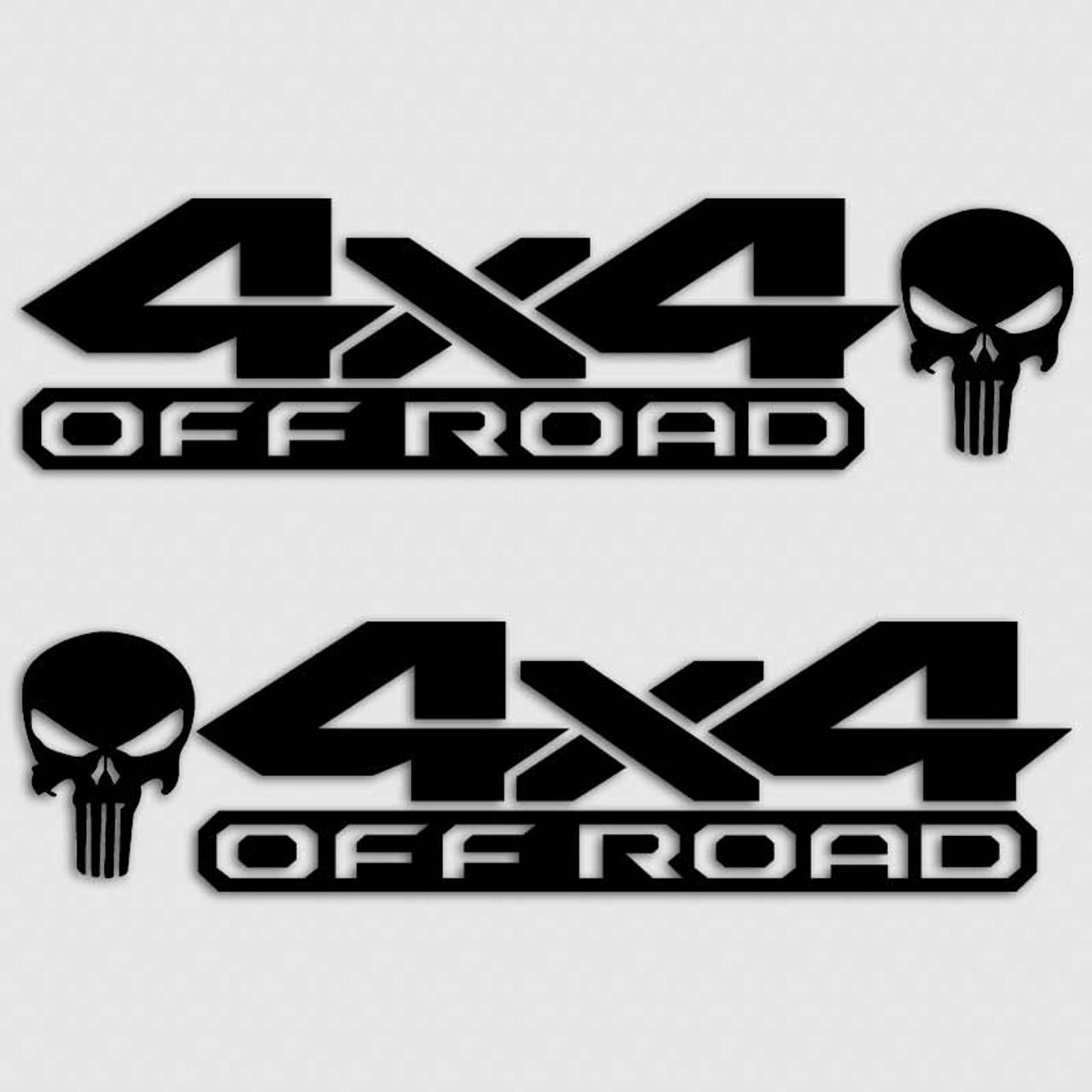 Dodge Ram 4x4 Punisher Skull Truck Decal Set Dakota Mopar Sticker