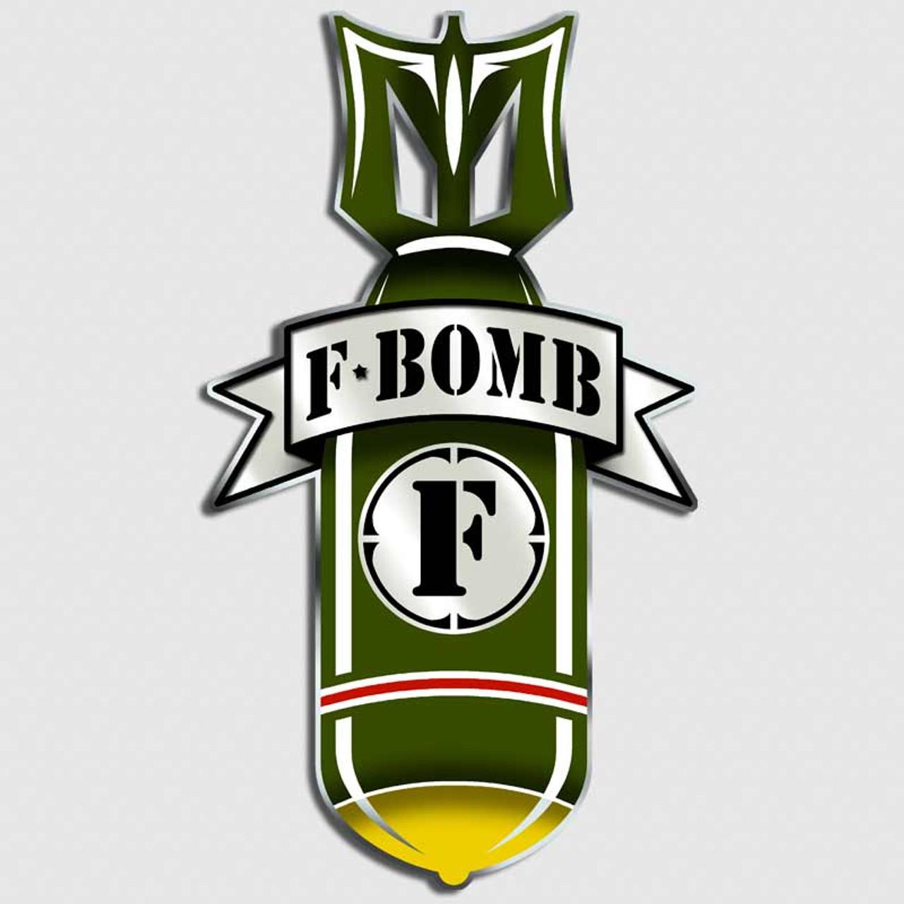 F Bomb Military Decal | Funny WW2 Army Sticker