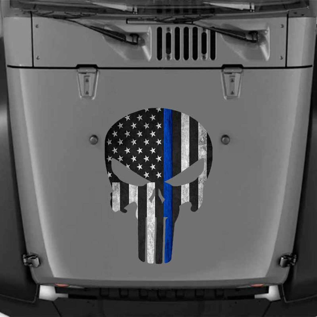 Thin Blue Line Punisher Decal Super Police Hero Punisher Various Sizes