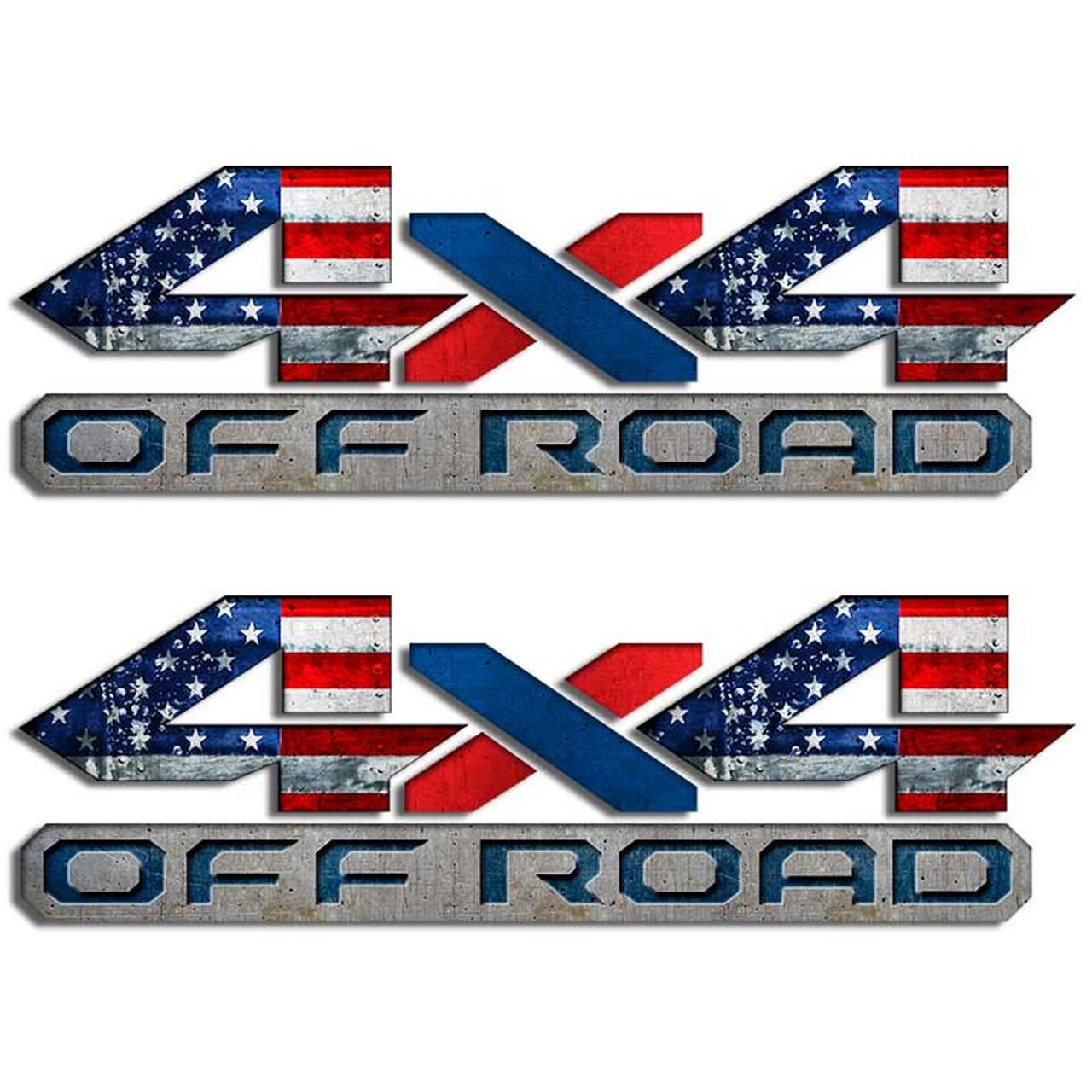 Dodge Ram 4x4 American Flag Truck Decal Set Usa Mopar Sticker