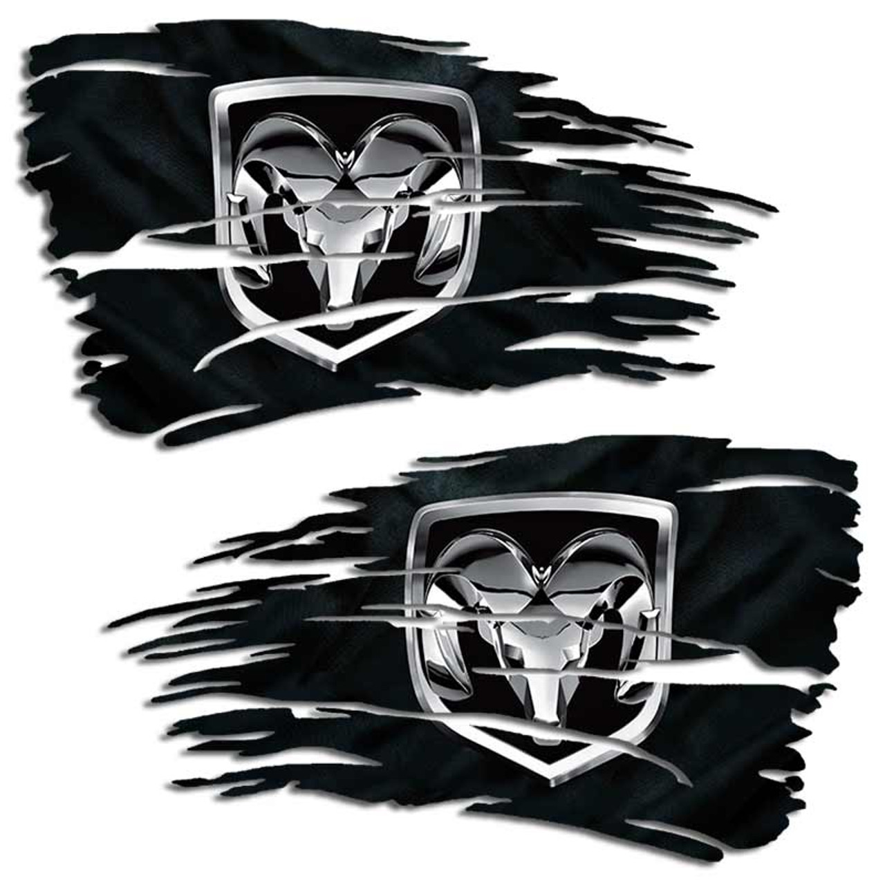 Dodge Ram 1500 2500 Mopar Hemi Distressed Flag Decal