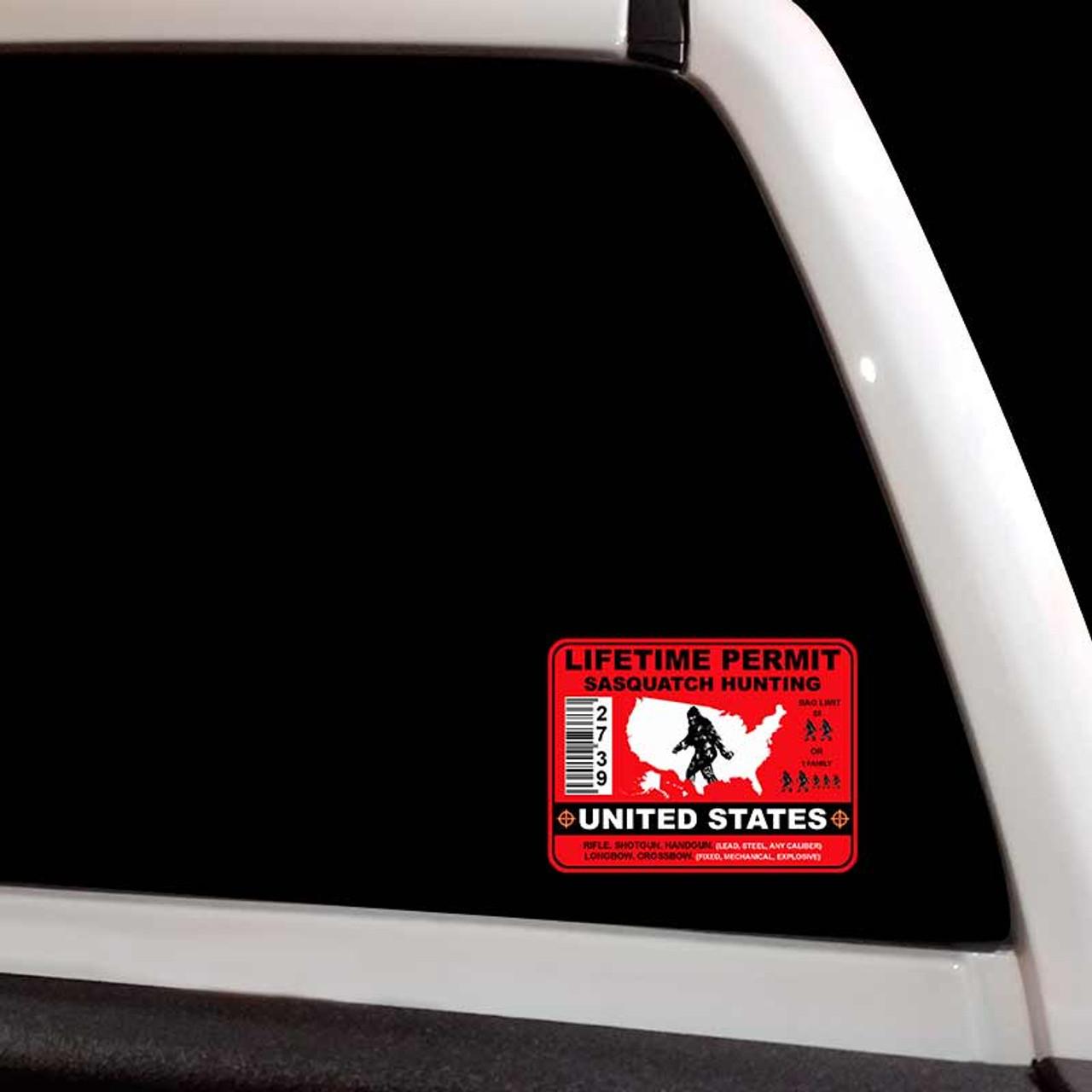 Drone Hunting Permit Bumper Sticker United States