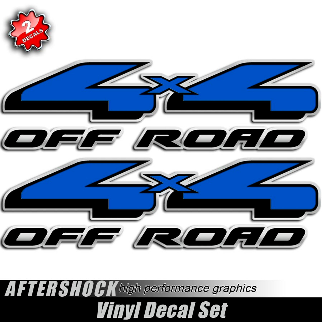 4x4 blue and black f 150 decals