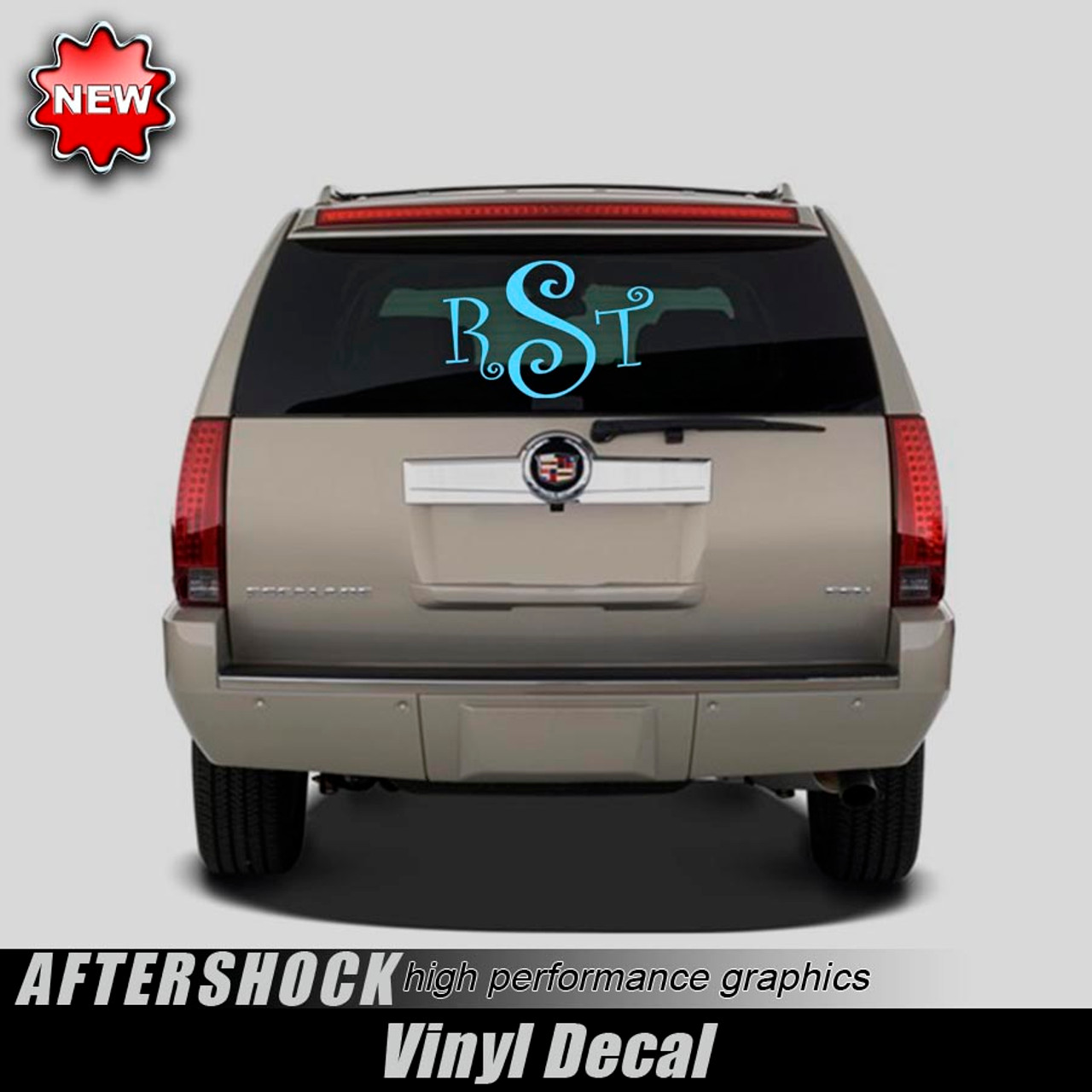 Monogrammed rear window decal