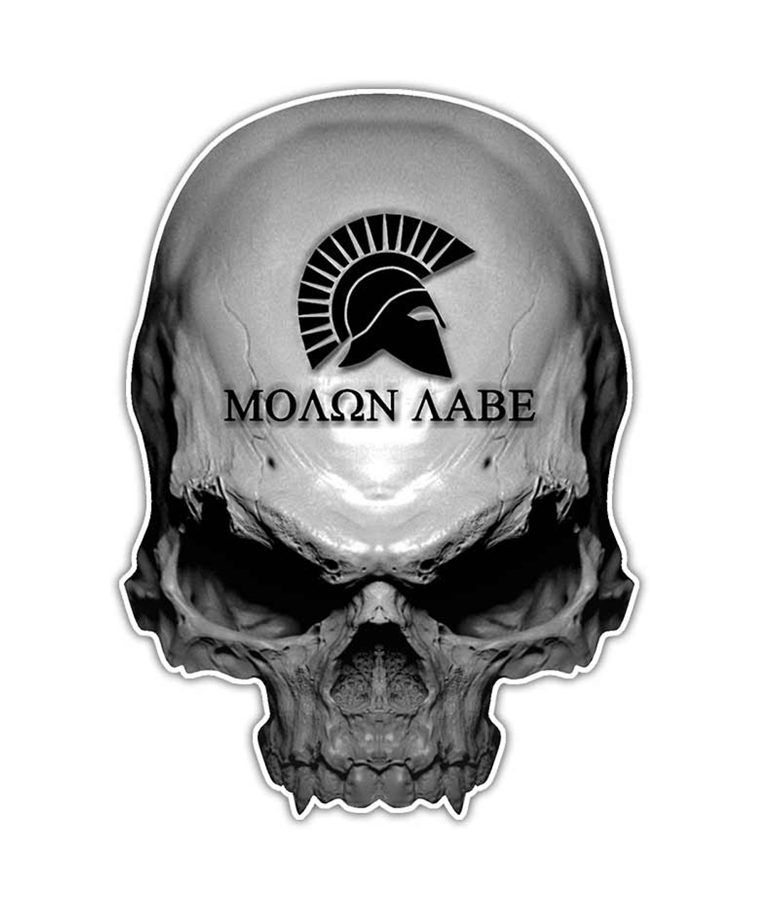 Molon Labe Gun Skull Sticker Aftershock Decals