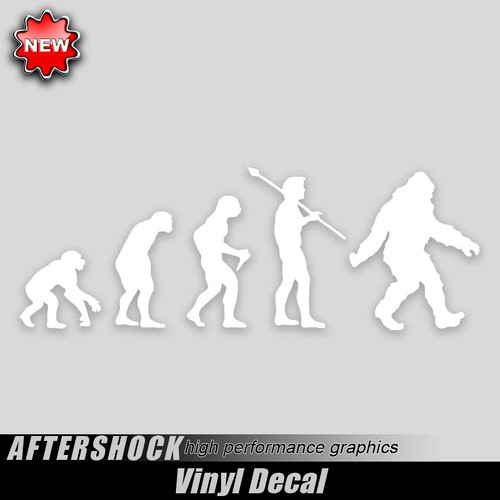 49009da47c35 Evolution Vinyl Stickers, Athletic, Sports, Ape Evolve Decals