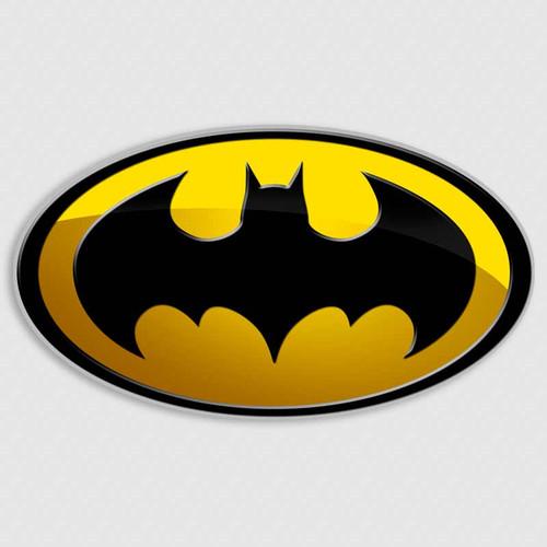 Batman Gotham Oval Vinyl Decal