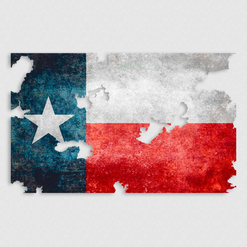 Tattered Texas Flag Cowboy Decal