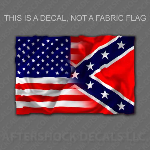 American/Rebel Flag Sticker