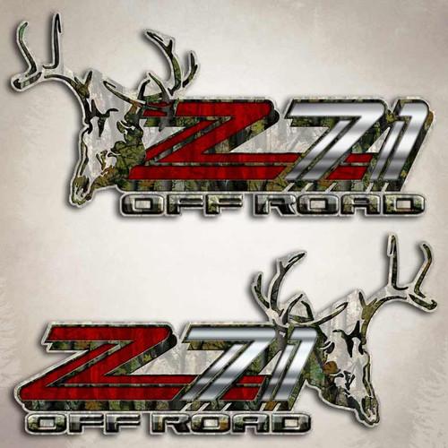 Z71 Deer Skull Off Road Decals