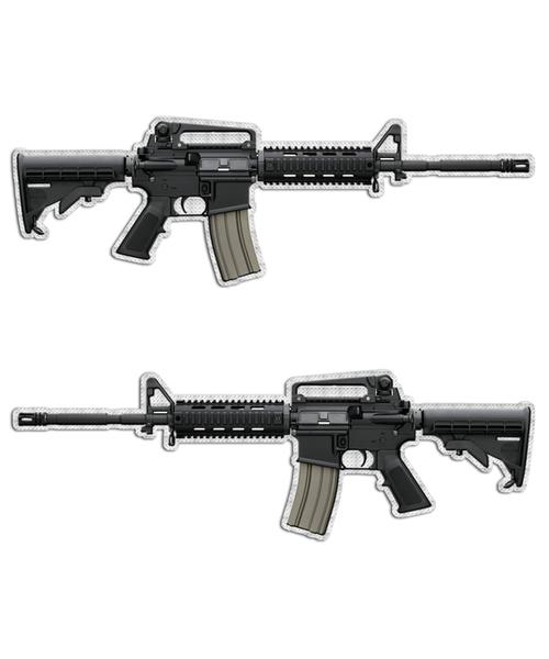 Assault Rifle Bushmaster AR-15 Gun Stickers