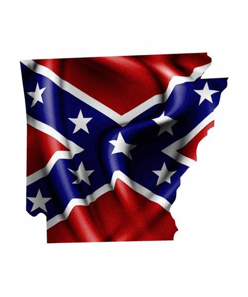 Arkansas Rebel Flag Sticker