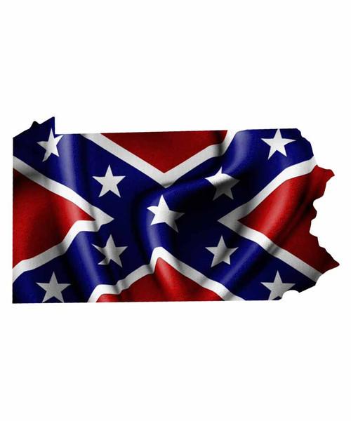 Pennsylvania Rebel Flag Sticker