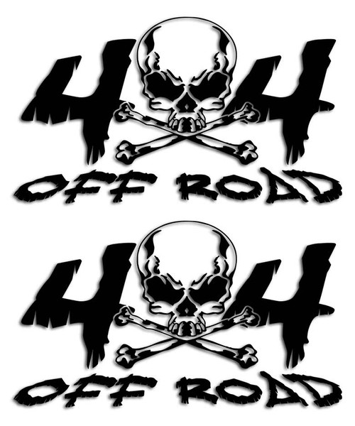 4x4 Skull Head Sticker Set