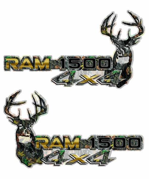 4x4 Gold Ram 1500 Deer Camouflage Decals