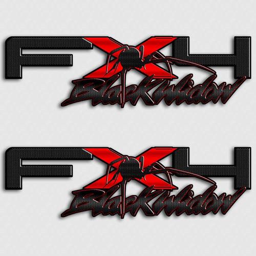 FX4 Black Widow Truck Decal Set