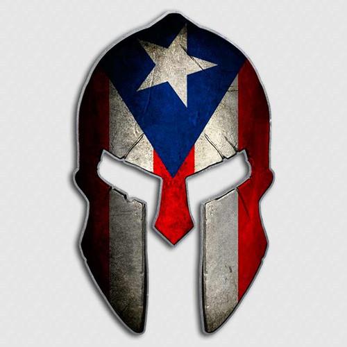 Puerto Rico Spartan Helmet Decal