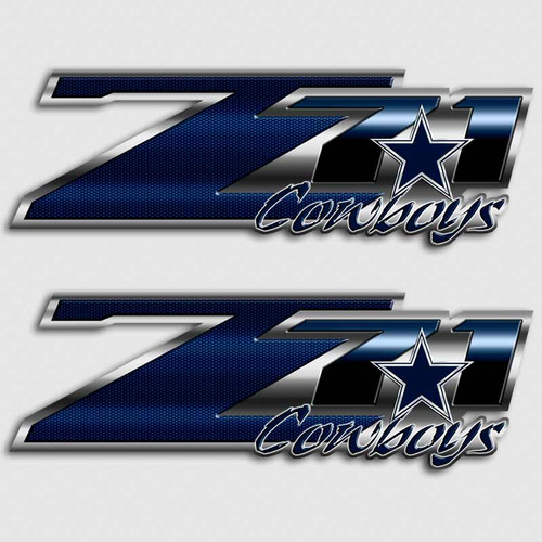 Z71 Cowboys Football Truck Decals