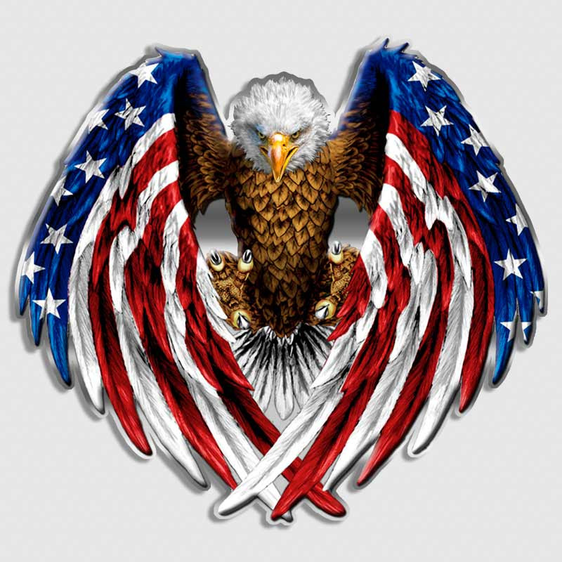 American Flag Eagle Decal United States Sticker
