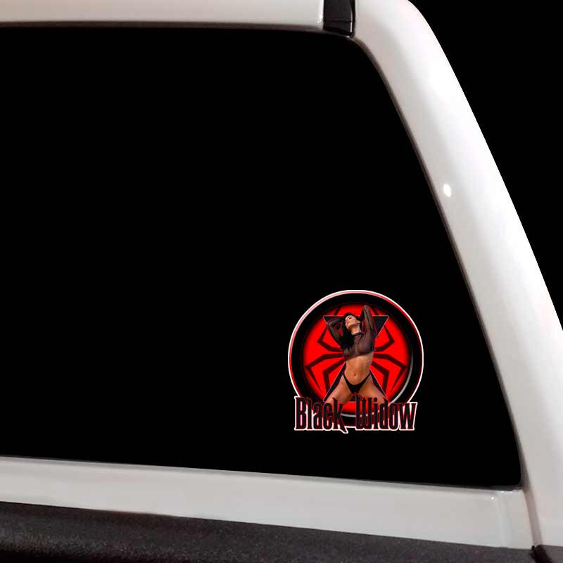 Amazon Com Black Widow 4x4 Spider Truck Decal Sticker Set Automotive