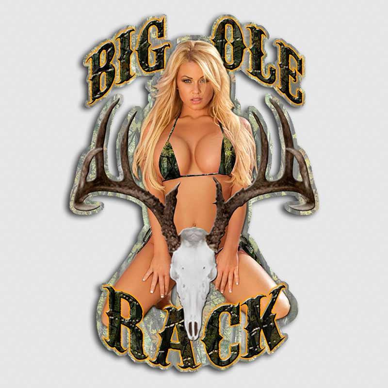 Big Ole Rack Sexy Whitetail Deer Sticker