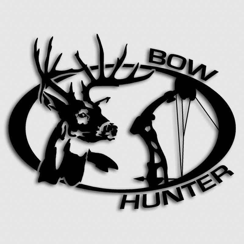 Whitetail Bow Archery Hunting Decal