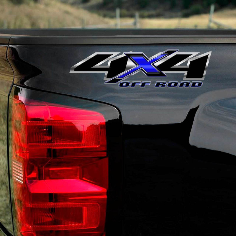 Shadow Edition Blue Chevy Silverado 4x4 Truck Decals
