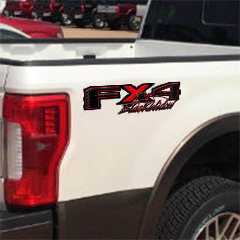 Black Widow Fx4 Spider Decals Custom F150 Truck Sticker
