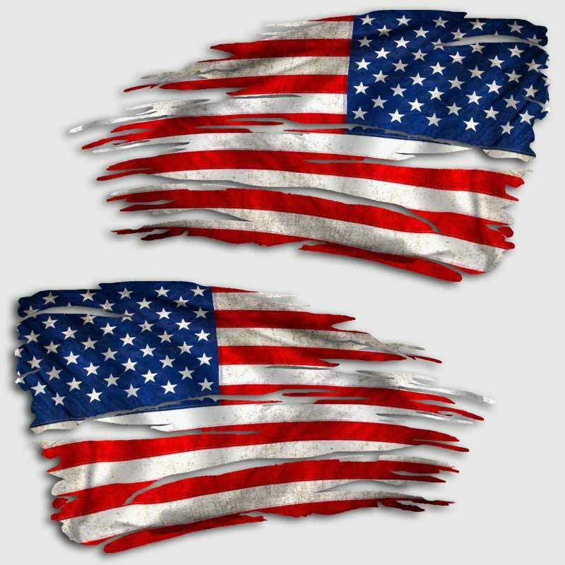 Set of 2 American Flag decal large US flag vinyl decal sticker US flag Flag decal large vinyl decal flag