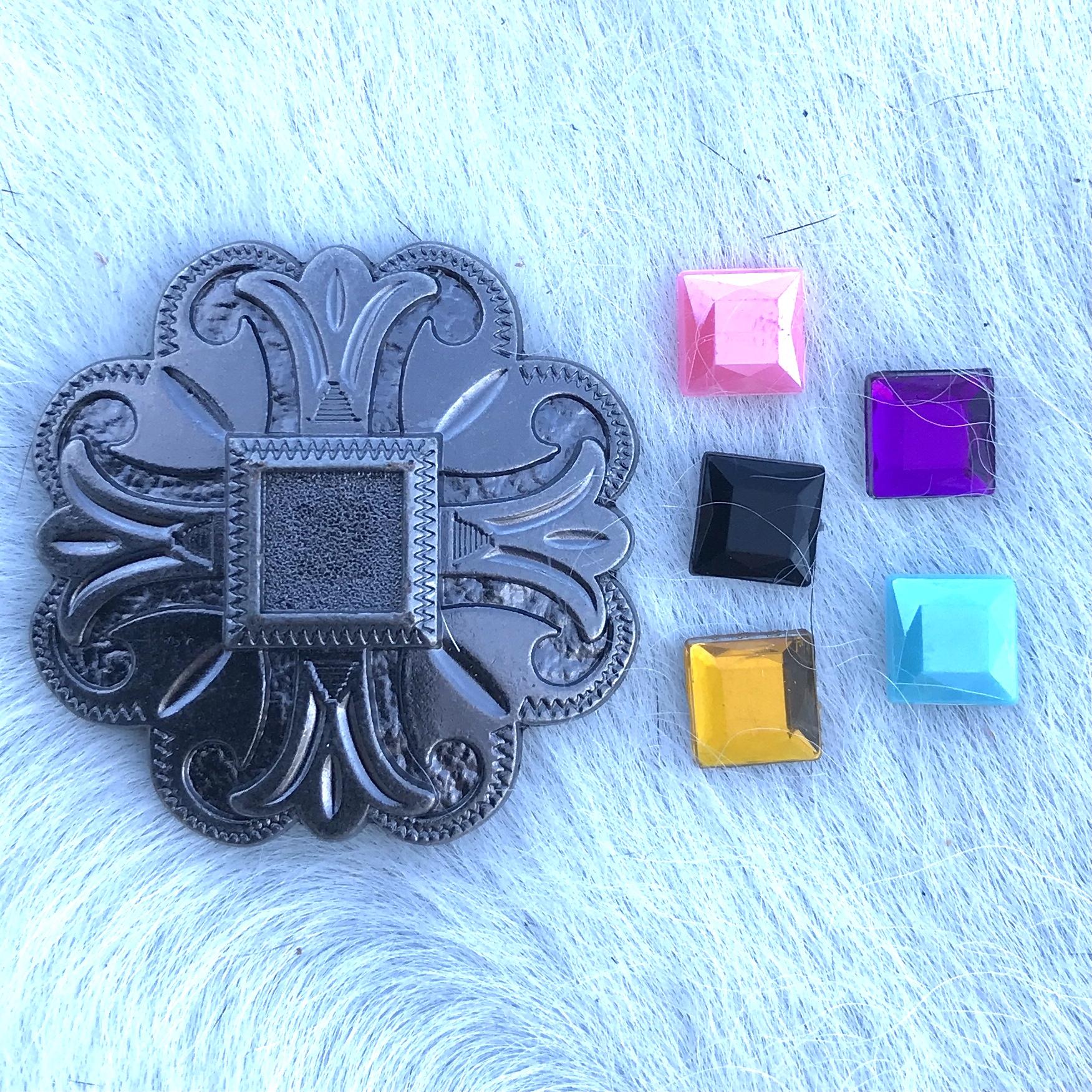 Copper Cross w/ Stone