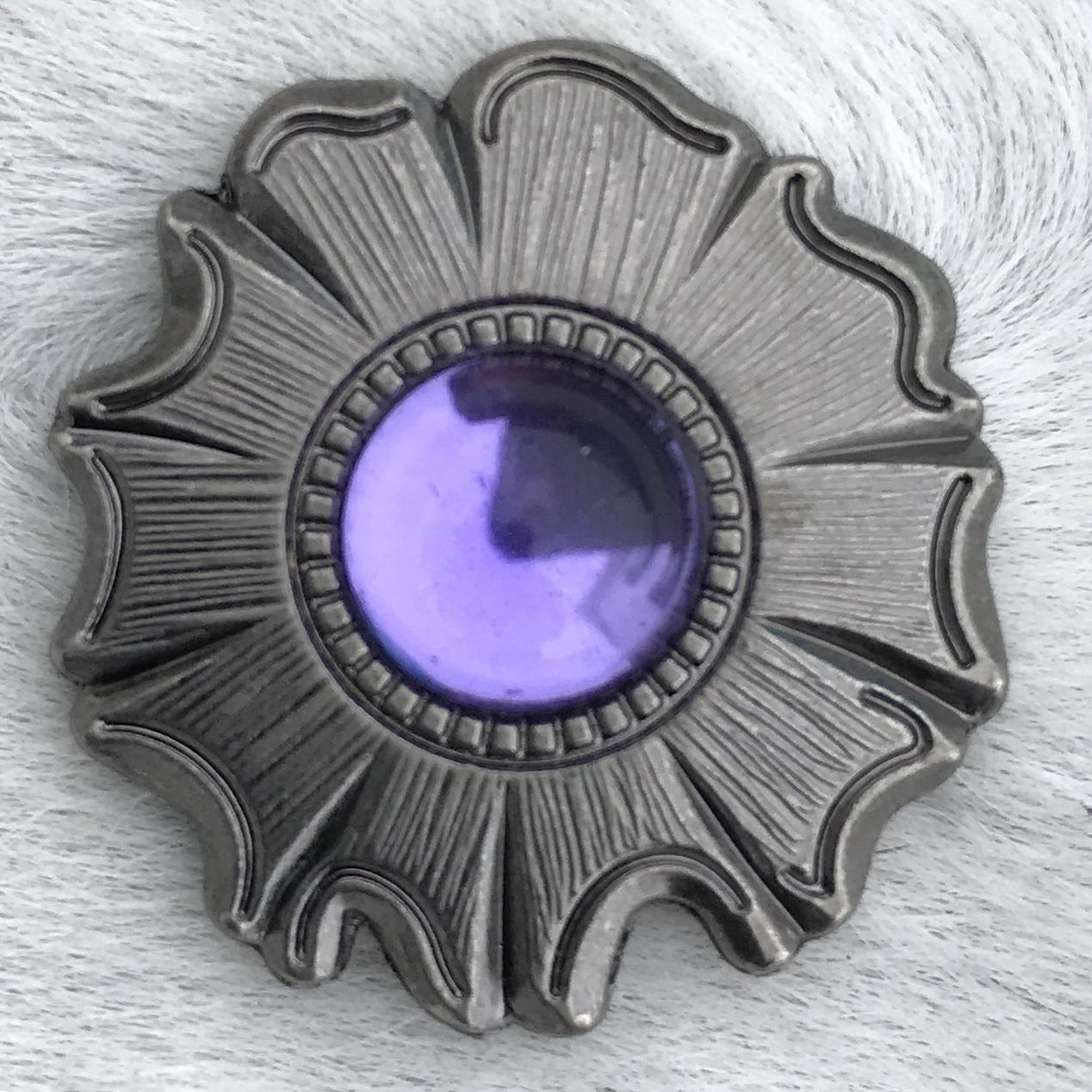 Antique Floral w/ Purple Stone