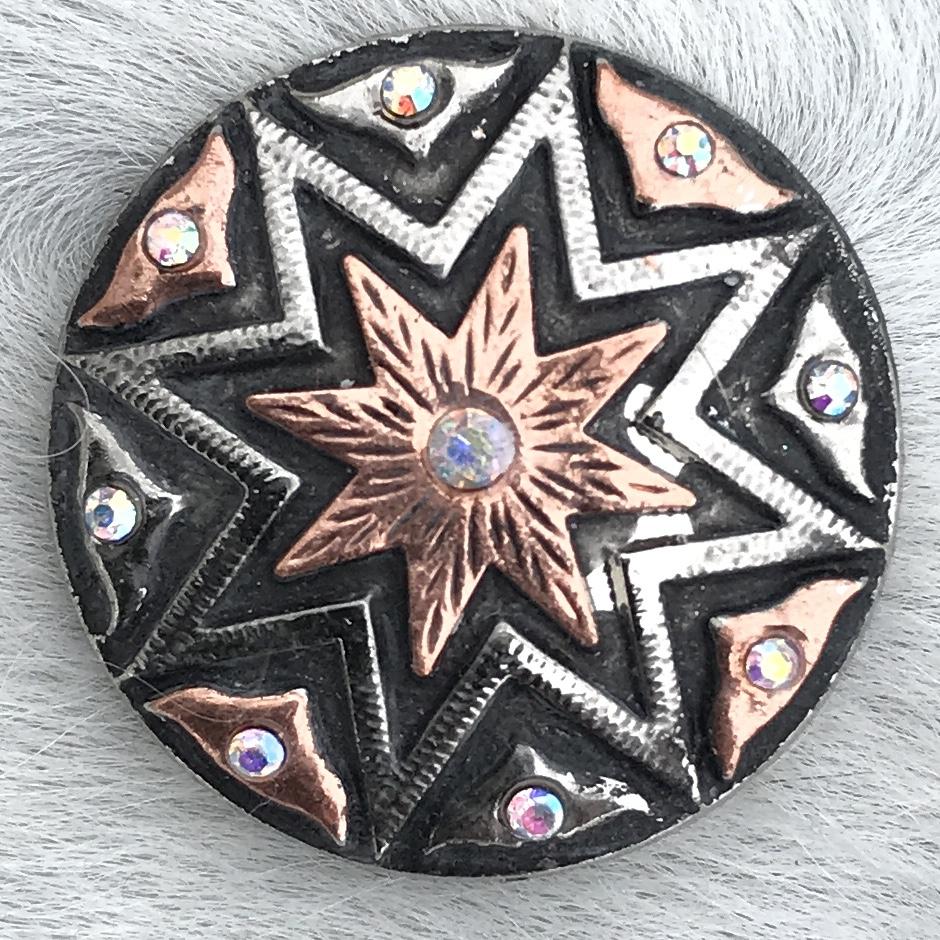 Silver Round w/ Copper Star