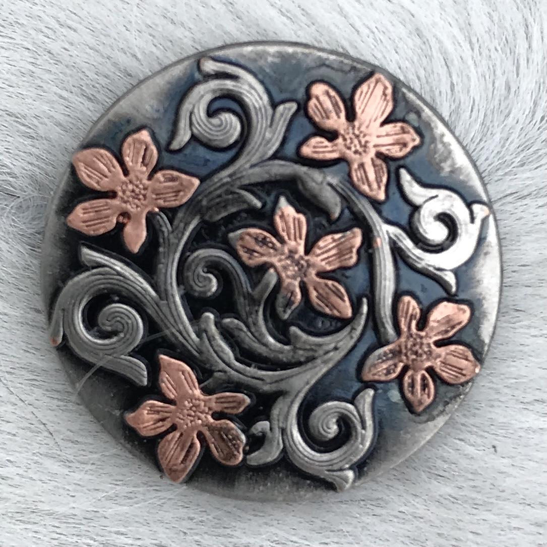 Copper & Silver Floral