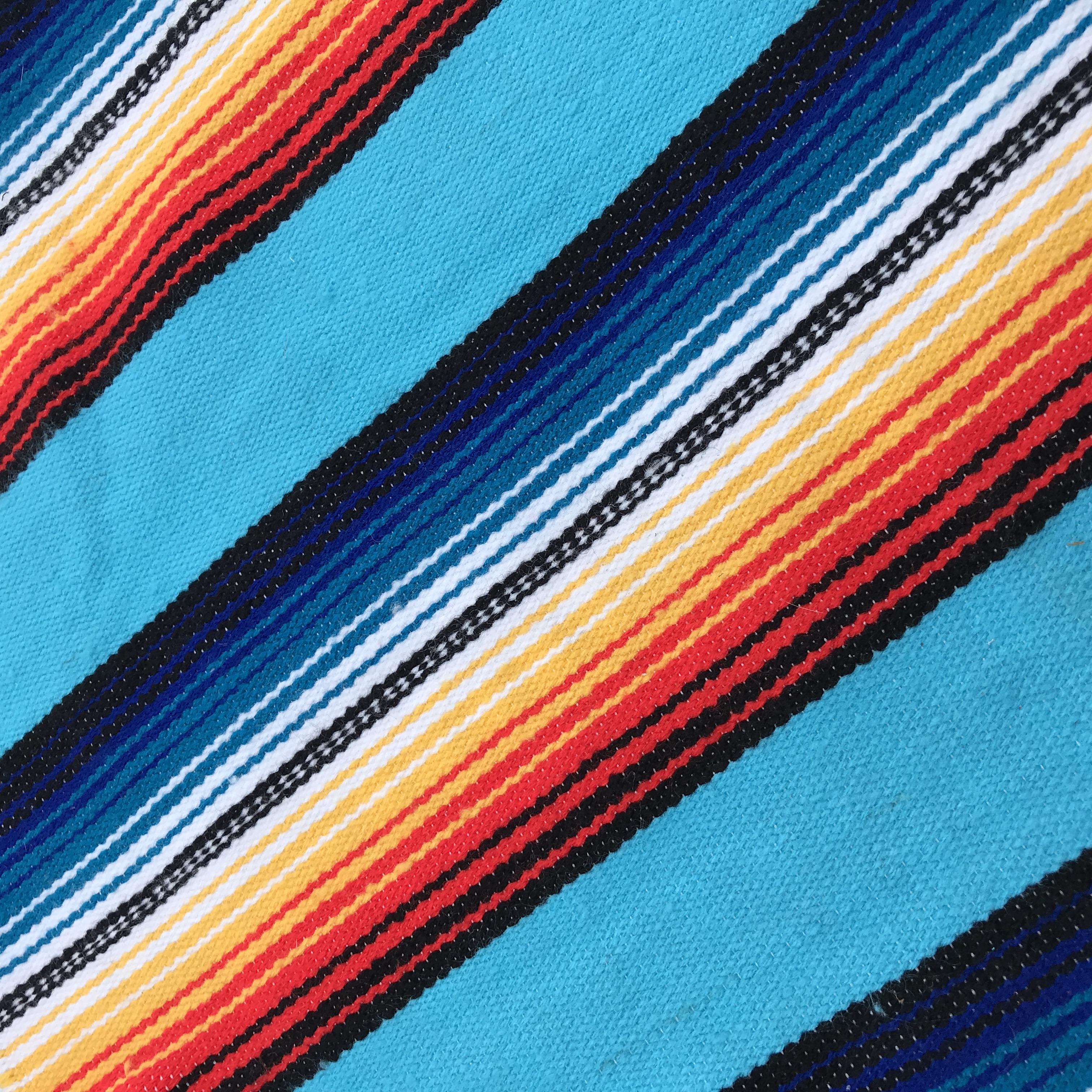 Turquoise Serape Material