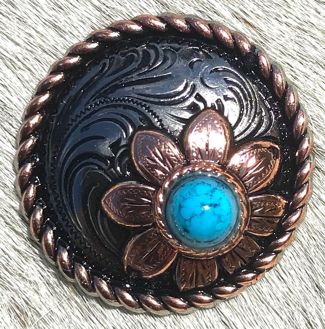 Sunflower w/ Turquoise Stone