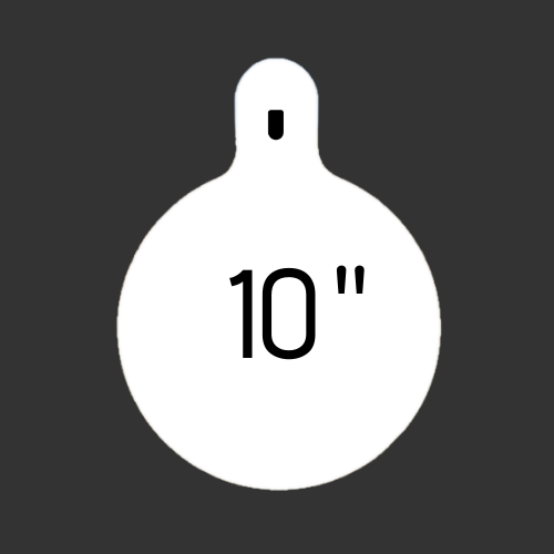 """10"""" Round Slotted Hook 3/8"""" Thick"""