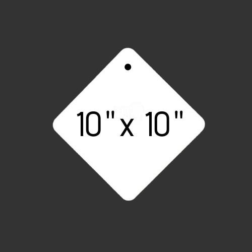 """10"""" x 10"""" Diamond Round Hole"""